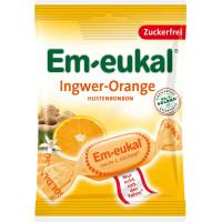 Конфеты, Имбирь-Апельсин, без сахара Em-eukal, 75 g (Германия)