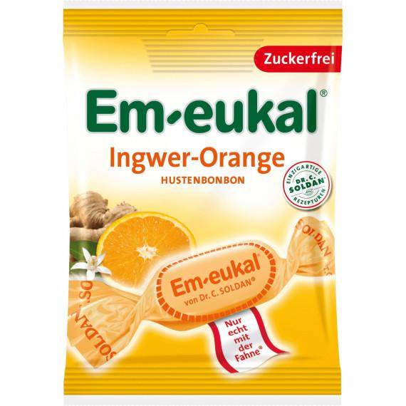 Конфеты, Имбирь-Апельсин, без сахара Em-eukal, 75 g (Германия) -