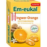 Конфеты мини, Имбирь-Апельсин, без сахара Em-eukal, 50 g (Германия)
