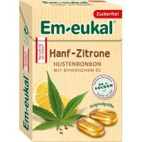 Конфеты мини, Конопля-Лимон, без сахара Em-eukal, 50 g (Германия)
