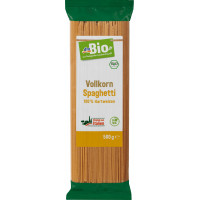 Макаронные изделия, Спагетти Пшеничные, Цельнозерновые dmBio, 500 g (Германия)