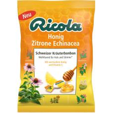Конфеты, Мед эхинацея лимон, без сахара Ricola, 75 г. (Германия)