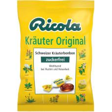 Конфеты, травяные оригинал, без сахара, Ricola, 75 г (Германия)