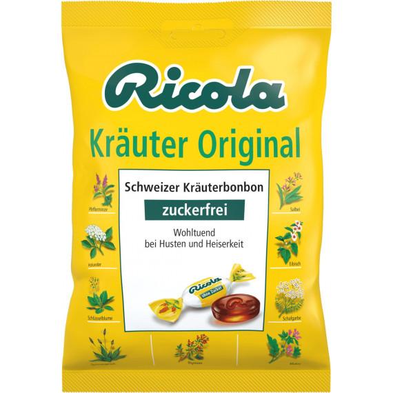 Конфеты, травяные оригинал, без сахара, Ricola, 75 г (Германия) -