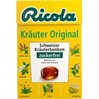 Конфеты, травяные оригинал, без сахара, в карманной коробке Ricola, 50 г (Германия)