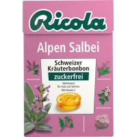 Конфеты, Альпийский Шалфей, без сахара, в карманной коробке, 50 г. (Германия)