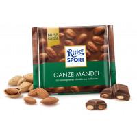 Шоколад Целый миндаль Ritter sport, 100 g (Германия)