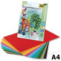 Цветная бумага folia, А4 10 цветов разного цвета, 130 г / м², 20 листов (Германия)