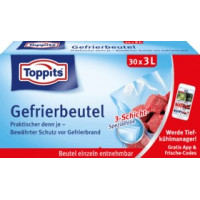Сумка для заморозки (30 х 3 л) Toppits, 30 шт (Германия)