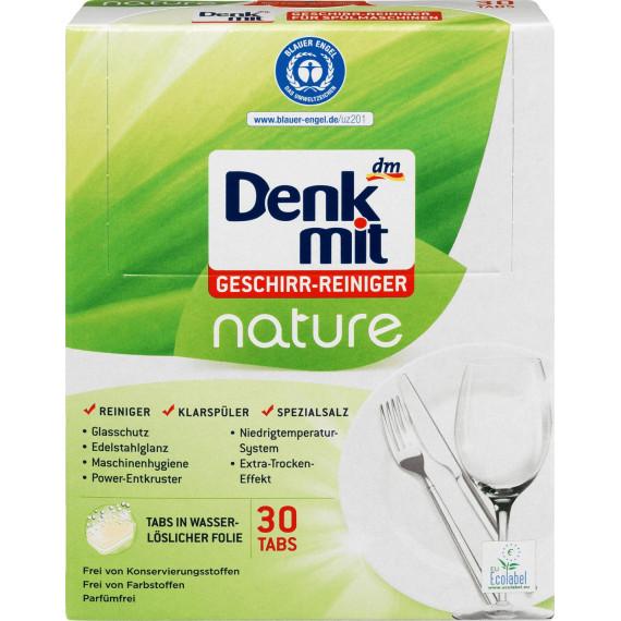 Таблетки для посудомойки природа Denkmit, 30 шт. (Германия) -