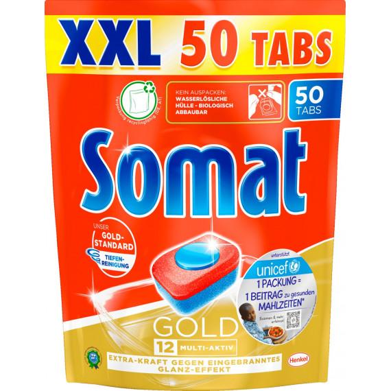 Таблетки для посудомоечной машины 12 Gold XXL Somat, 50 шт (Германия) -