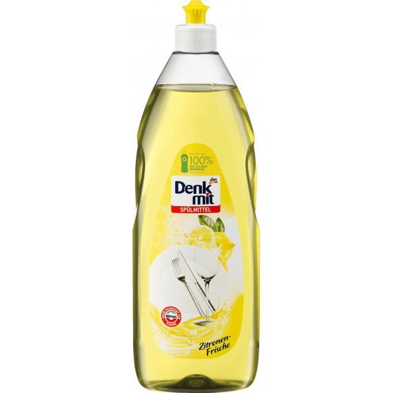 Моющее средство для посуды с ароматом лимона Denkmit, 1л. (Германия) -