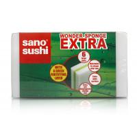 Губка для мытья с дополнительным прочным слоем Sano, 6 шт
