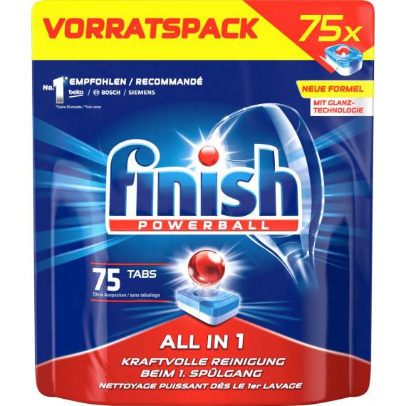 Таблетки для посудомоечных машин Все в 1 finish, 75 шт. (Германия) -
