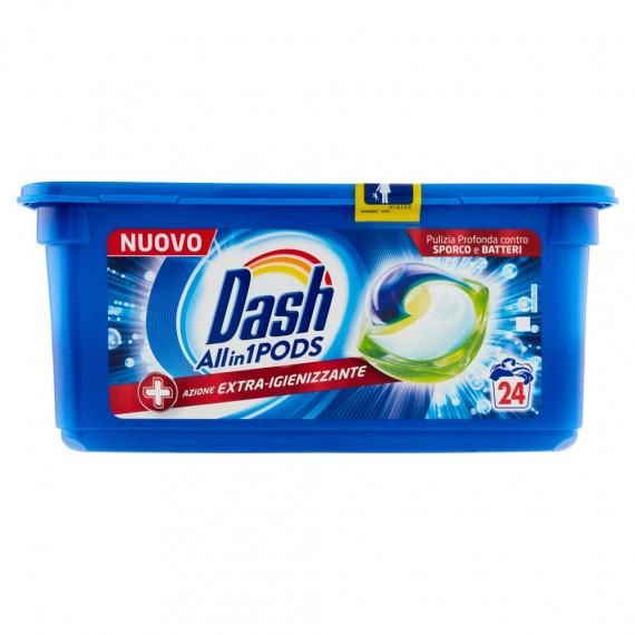 Капсулы для стирки Экстра дезинфицирующее действие Dash, 24 Wl (Италия) -