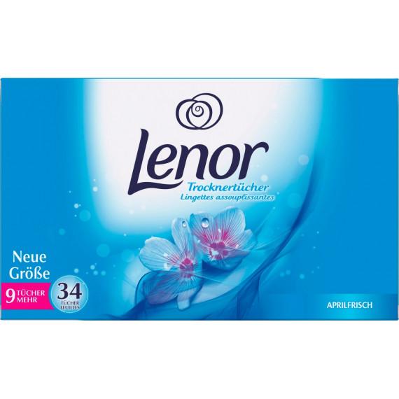 Салфетки для сушки белья Апрельская свежесть Lenor, 34 шт (Германия) -