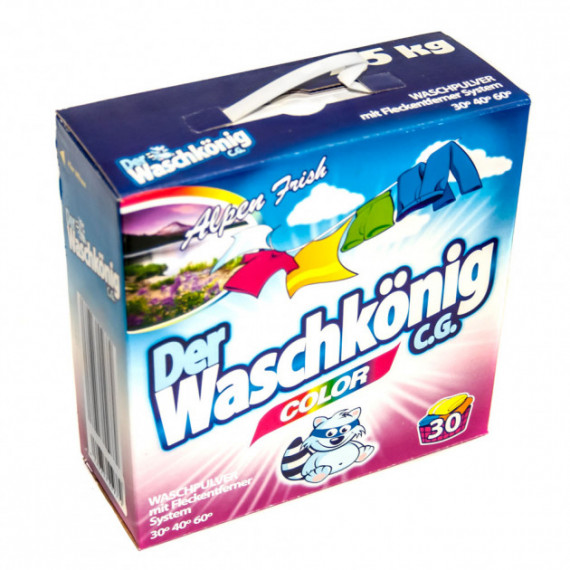 Стиральный порошок для цветных вещей Waschkonig, 2,5 кг -