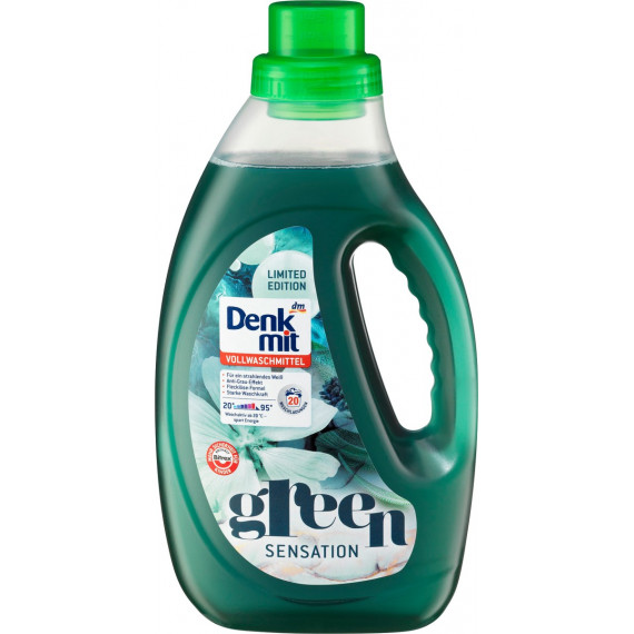 Гель для прання білої білизни Зелена сенсація Denkmit, 1,1 л. ( Німеччина ) -