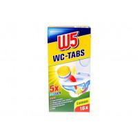 Таблетки для чистки унитаза лимон W5, 16 шт. (Германия)
