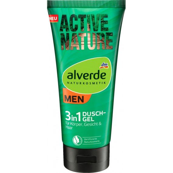 Гель для душу Активна природа 3в1 alverde MEN, 200 ml (Німеччина) -