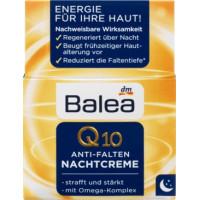 Нічний крем Q10 проти зморшок Balea, 50 мл (Німеччина)