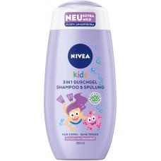 Детский гель для душа и шампунь 3 в 1 Ягодный аромат NIVEA, 250 мл (Германия)