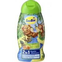 Детский душ шампунь SauBär тропический микс, 250 мл. (Германия)