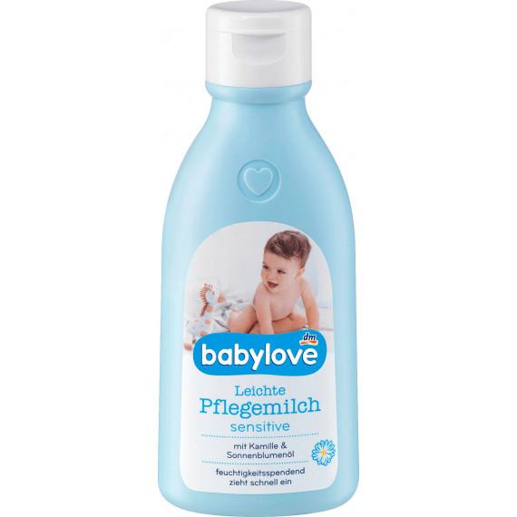 Дитяче молочко для догляду Чутливе babylove, 250 мл. (Німеччина) -