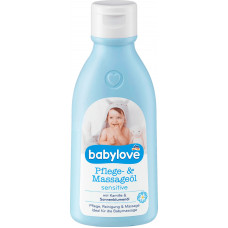 Уход и Массажное масло чувствительное babylove, 250 мл (Германия)