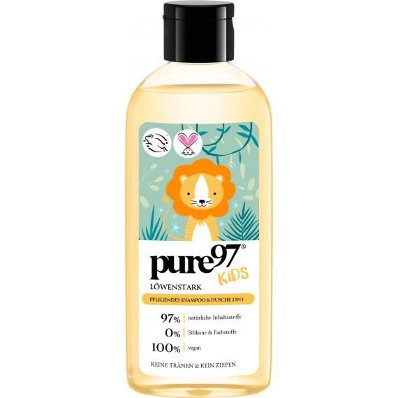 Детский шампунь и гель для душа 2в1 Сильный, как лев pure97, 250 ml (Германия) -