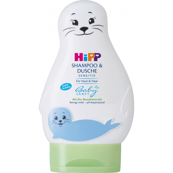 Детский мягкий шампунь и душ Hipp, 200 мл (Германия) -