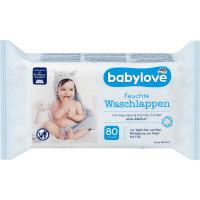 Влажные салфетки для умывания babylove, 80 St (Германия)
