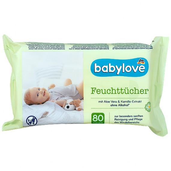 Влажные салфетки babylove, 80 шт. (Германия) -