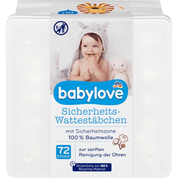 Дитячі вушні палички з обмежувачем babylove, 72 St. (Німеччина) -
