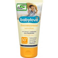 Солнцезащитный крем чувствительный SPF 50 babylove, 75 мл (Германия)