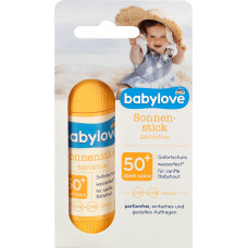 Солнцезащитная палочка Sensitive SPF 50+ babylove, 20 г (Германия)