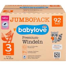 Премиум подгузники babylove 3 MIDI 4-9kg, Джамбо упаковка 2x46 шт, 92 St (Германия)