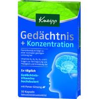Капсулы памяти + концентрация 30 штук Kneipp, 14,9 g