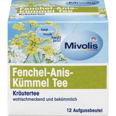 Травяной чай, чай из Тмина-Аниса-Фенхеля Mivolis, 24 g (Германия)