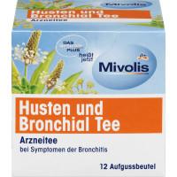 Лікарський чай, кашель і бронхіальний чай (12x2г) Mivolis, 24 г (Німеччина)