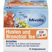 Кашель і бронхіальний чай ДЛЯ ДІТЕЙ, 12 х 1,5 г Mivolis, 18 г (Німеччина)