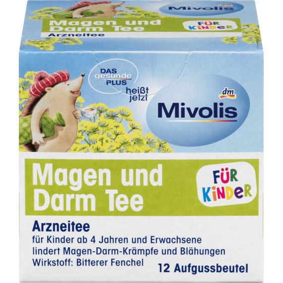Детский чай Желудочно-кишечный Mivolis, (12x2,2g), 26,4 g (Германия) -