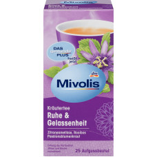 Травяной чай, Спокойствие и Безмятежность (25х2г) Mivolis, 50 g (Германия)