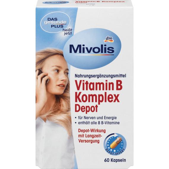 Биологически активная добавка Витамин B Комплекс Депо Mivolis, 60 шт. (Германия) -