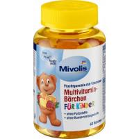 Поливитамины для детей медвежонки Mivolis, 60 St (Германия)