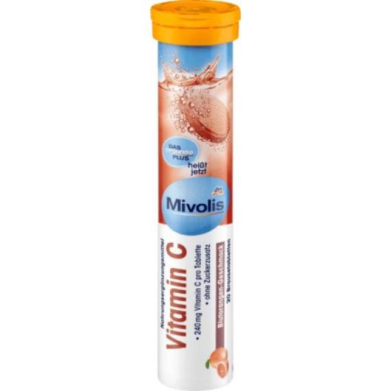 Вітамін С шипучі таблетки Mivolis, 20 шт. (Німеччина) -