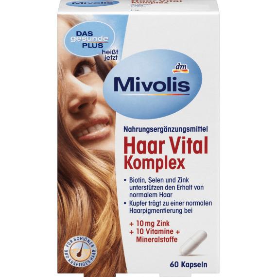 Вітаміни для зміцнення волосся Mivolis, 60 St (Німеччина) -