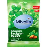 Цукерки, Евкаліпт-Ментол, без цукру Mivolis, 75 г (Німеччина)