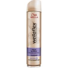 Лак для волос Полнота & Стиль ультра сильной фиксации wellaflex, 250 мл (Германия)