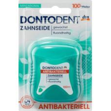 Зубная нить антибактериальная DONTODENT, 100 м. (Германия)